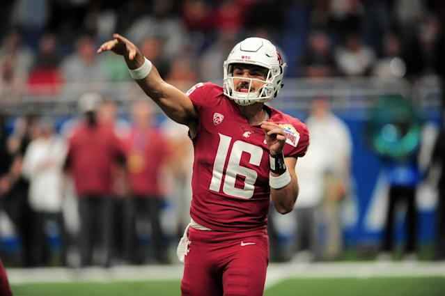 Washington State's Gardner Minshew threw for 4,480 yards, 36 touchdowns and nine interceptions in 12 games this past season. (Getty Images)