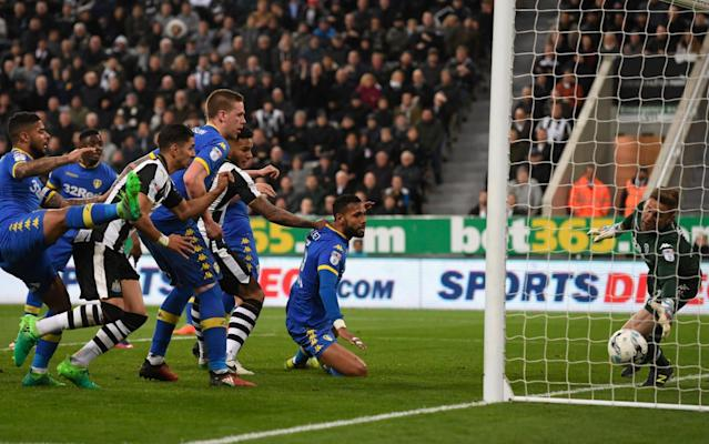<span>Robert Green could not keep out Jamaal Lascelles's opener for Newcastle</span> <span>Credit: getty images </span>