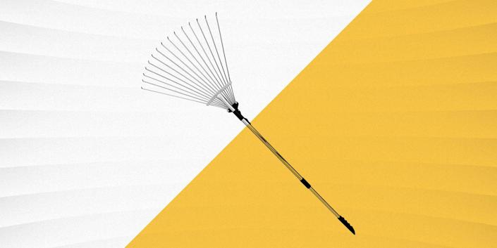 """<p>If you have a yard and live in an area with trees and changing seasons, leaves are an inescapable reality—which means raking is an inevitable (and often dreaded) chore. A good leaf rake can help you finish this job quickly and ideally with minimal back strain.</p><h3 class=""""body-h3""""><strong>What to Consider</strong></h3><p>Leaf rakes typically will have a series of long, skinny tines, which are commonly constructed in a triangular or fan-shaped arrangement. In some cases, these might be lined up in a straight, consistent row resembling a comb, though rakes with this configuration are often categorized as garden rakes.</p><p class=""""body-tip"""">Fall Lawn Care: <a href=""""https://www.popularmechanics.com/home/tools/a24539816/best-leaf-blowers/"""" rel=""""nofollow noopener"""" target=""""_blank"""" data-ylk=""""slk:The Best Leaf Blowers, Tested"""" class=""""link rapid-noclick-resp"""">The Best Leaf Blowers, Tested</a> 