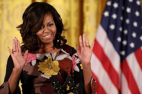 Michelle Obama and Oprah Winfrey wear coordinating green dresses for FLOTUS's exit interview