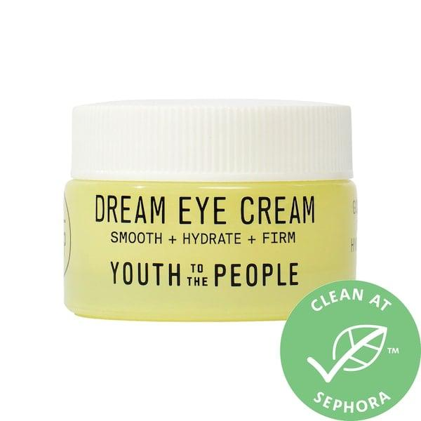 """<p>There are plenty of ingredients to work on under-eye lines and puffiness found inside this new <product href=""""https://www.sephora.com/product/youth-to-the-people-dream-eye-cream-with-goji-stem-cell-ceramides-P463144?icid2=justarrivedskincare_us_skugrid_ufe:p463144:product"""" target=""""_blank"""" class=""""ga-track"""" data-ga-category=""""internal click"""" data-ga-label=""""https://www.sephora.com/product/youth-to-the-people-dream-eye-cream-with-goji-stem-cell-ceramides-P463144?icid2=justarrivedskincare_us_skugrid_ufe:p463144:product"""" data-ga-action=""""body text link"""">Youth To The People Dream Eye Cream with Goji Stem Cell and Ceramides</product> ($48). After a tough night (or year), things like vitamin C, ceramides, hyaluronic acid, and the stem cells of goji berries can smooth and soothe away the evidence.</p>"""