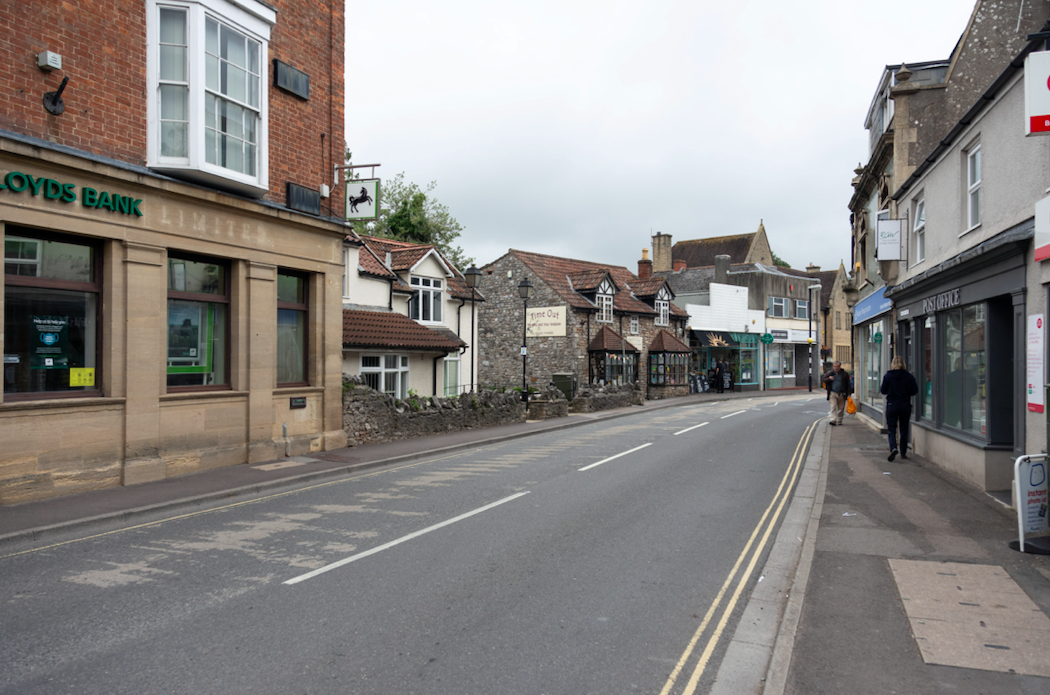 Many businesses have closed in Cheddar due to the gathering of caravans. (SWNS)
