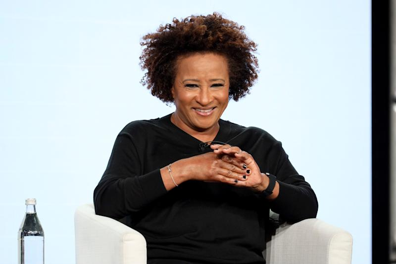 """Wanda Sykes, an executive producer, who is also featured in """"Visible: Out on Television,"""" appears on a panel for the docu-series on Jan. 19, 2020, in Pasadena, Calif."""
