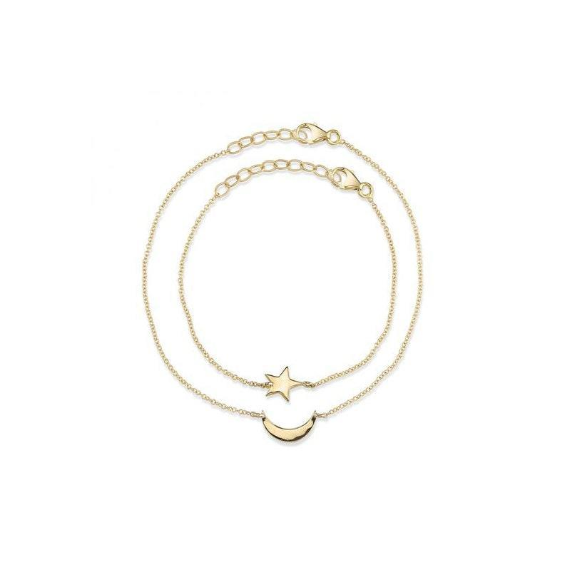 """Name a cuter mommy-and-me moment. We'll wait. $340, Starling. <a href=""""https://www.starlingjewelry.com/collections/new-mom/products/to-the-moon-and-back-bracelet-set"""" rel=""""nofollow noopener"""" target=""""_blank"""" data-ylk=""""slk:Get it now!"""" class=""""link rapid-noclick-resp"""">Get it now!</a>"""