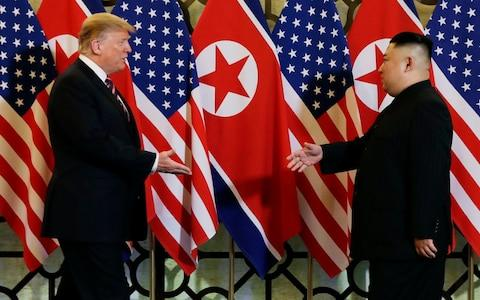 The Hanoi summit made a promising start but collapsed over a disagreement about sanctions relief - Credit: Evan Vucci/AP