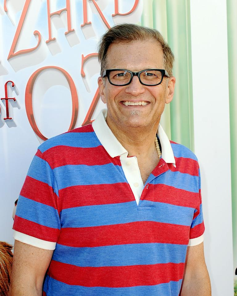 "LOS ANGELES, CA - SEPTEMBER 15: Comedian Drew Carey arrives at the premiere of Warner Bros. Home Entertainment's ""The Wizard Of Oz"" 3D And The Grand Opening Of The New TCL Chinese Theatre IMAX on September 15, 2013 in Los Angeles, California. (Photo by Kevin Winter/Getty Images)"
