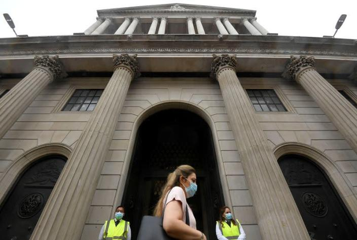 FILE PHOTO: The Bank of England is seen in the City of London, Britain