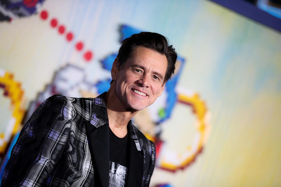 "Jim Carrey attends the LA special screening of Paramount's ""Sonic The Hedgehog"" on February 12, 2020. (Photo by Rich Fury/WireImage)"