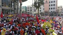 Tens of thousands of anti-coup protesters rallied across Myanmar