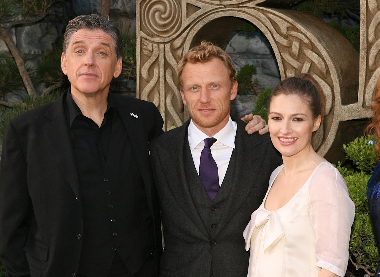 HOLLYWOOD, CA - JUNE 18:  (L-R) Actors Craig Ferguson, Kelly Macdonald and Kevin McKidd arrive at Film Independent's 2012 Los Angeles Film Festival Premiere of Disney Pixar's 'Brave' at Dolby Theatre on June 18, 2012 in Hollywood, California.  (Photo by Jesse Grant/Getty Images)