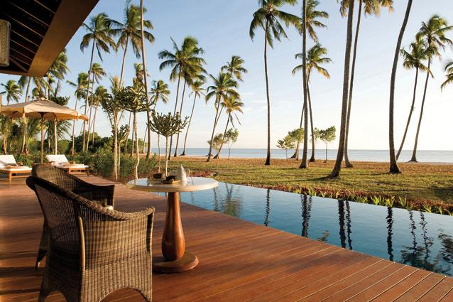 The Residence Zanzibar, Tanzania - Check out the Presidential Ocean Front Villa which has two bedrooms with outdoor showers, a kitchen, and a dining/living room. The resort's mile-long white sand beach is ideal for days of lounging. For the more active, the hotel provides complimentary bicycles, kayaks and pedal boats.