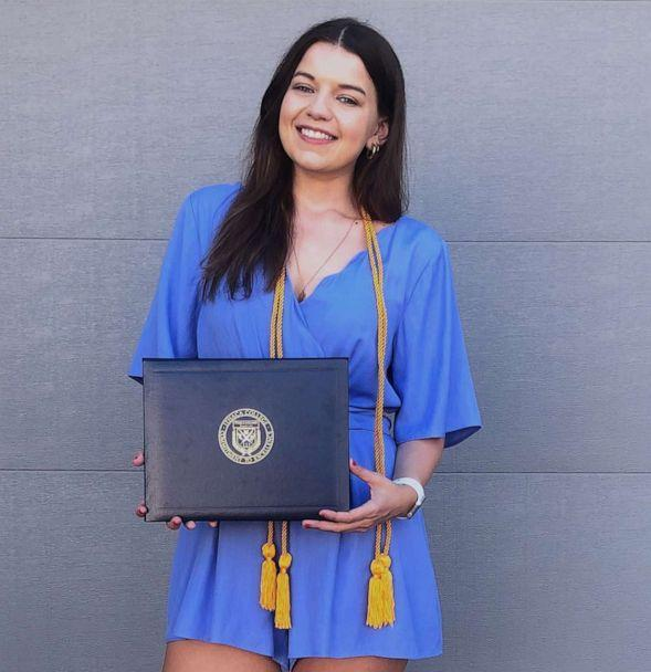 PHOTO: Marissa Ellis poses with her diploma from Ithaca College in an undated photo. (Courtesy of Marissa Ellis)