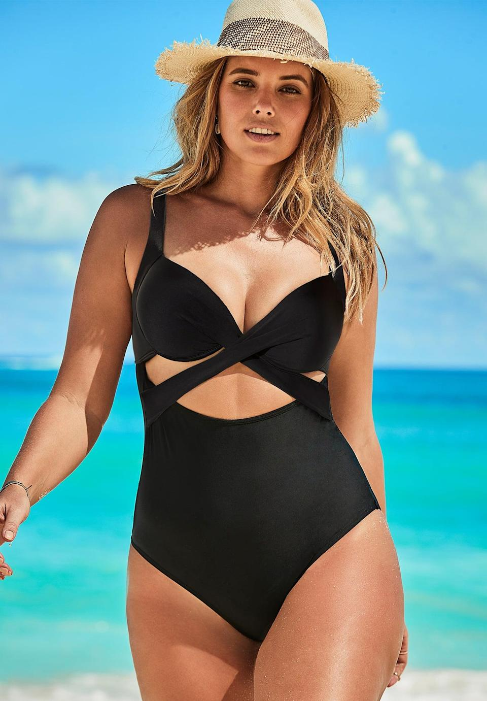 <p>Who says your bikini has to be boring? The details of this <span>Cut Out Underwire One Piece Swimsuit</span> ($30, originally $100) are unexpected and super playful, making it a sexy pick for your next beach date. </p>