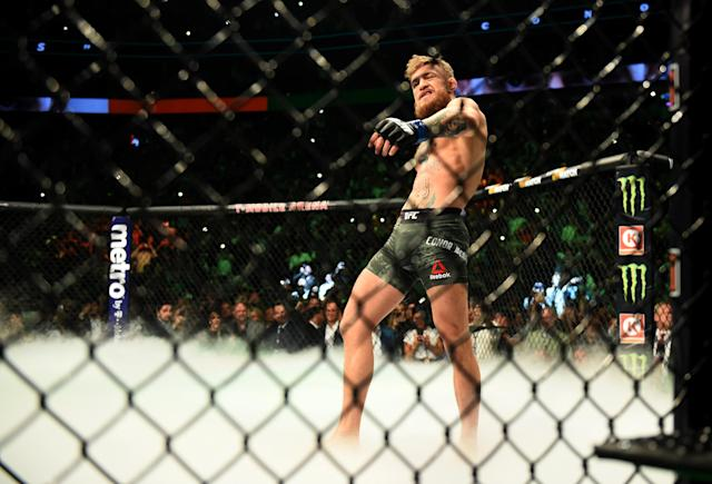 In a series of tweets, Conor McGregor and Frankie Edgar agreed to a fight in December if Dana White can get it set up. (Hans Gutknecht/Getty Images)