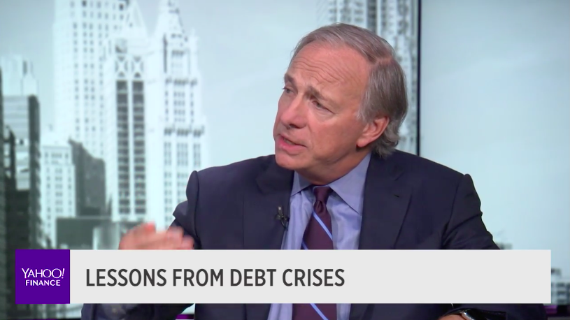 Hedge fund titan,Ray Dalio, the founder of Bridgewater Associates and author of 'A Template For Understanding Big Debt Crises,' sees another big downturn.