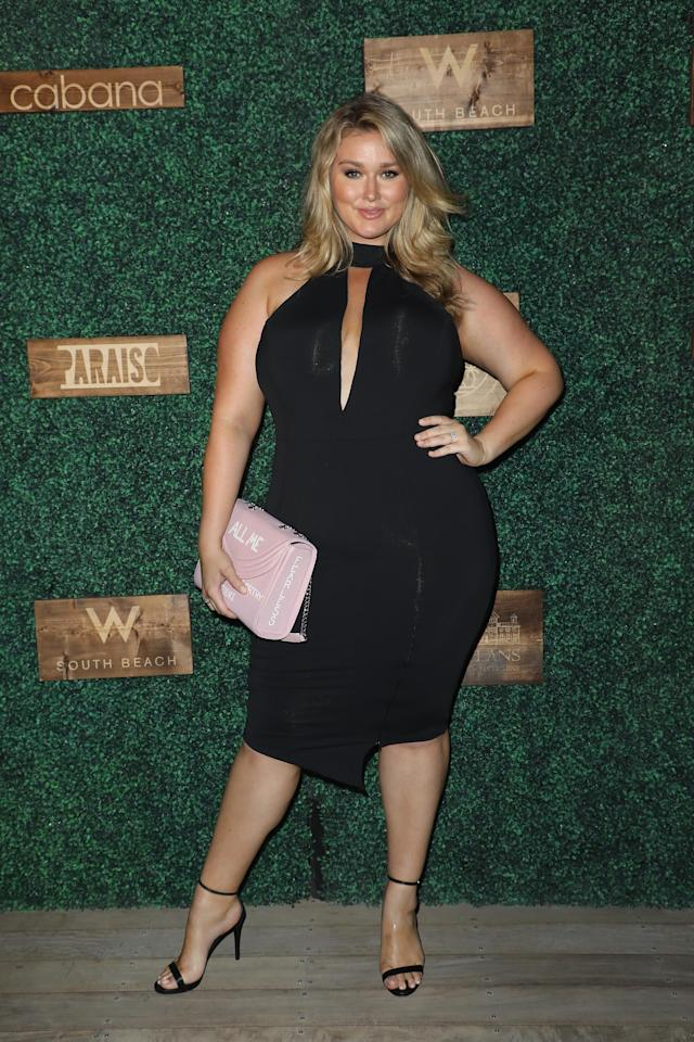 Hunter McGrady at the 2018 <em>Sports Illustrated</em> swimsuit show at Paraiso Fashion Fair during Miami Swim Week at the W Hotel South Beach on July 15 in Miami. (Photo: Alexander Tamargo/Getty Images for <em>Sports Illustrated</em>)