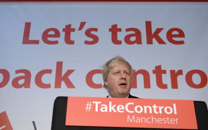 Boris Johnson was one of the leading figures in the Vote Leave campaign - OLI SCARFF/AFP