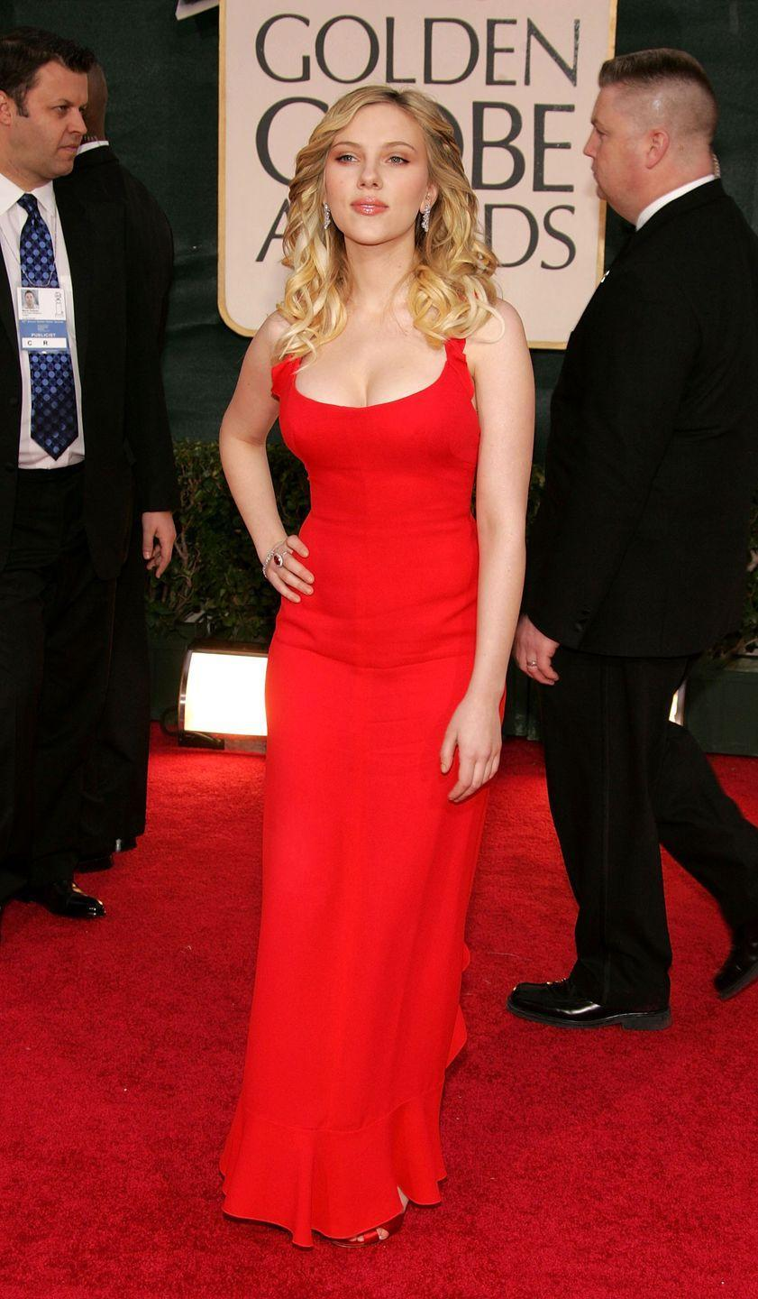 <p>The actress cemented her status as a sex icon in this Calvin Klein Collection gown at the 2006 ceremony.</p>
