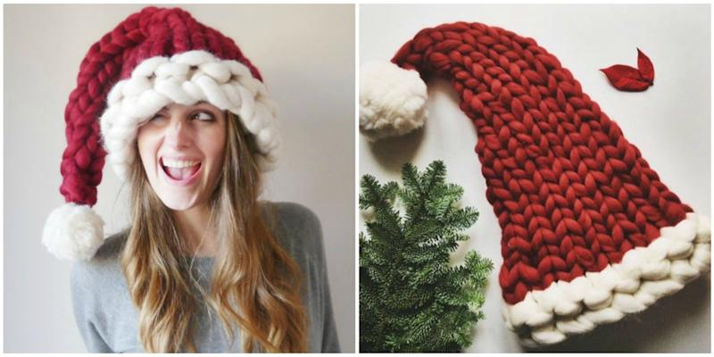 This Chunky Knit Santa Hat Will Be the Coziest Thing You Wear All Winter a65226fdced5