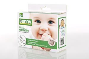 Nobu Baby's Benny Nasal Aspirator, developed by ENT specialists, is the closest to the hospital-grade aspirators - fast, safe and suitable for babies from birth.