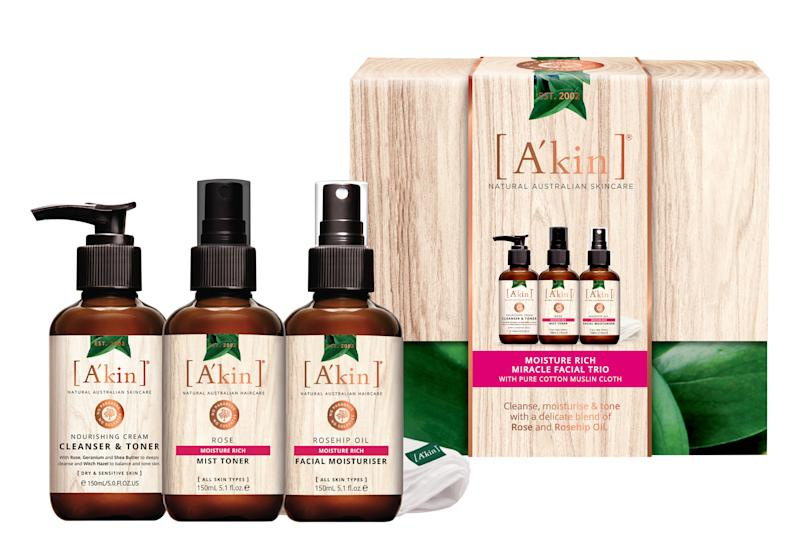 A'kin Moisture Rich Miracle Facial Trio - $39.99