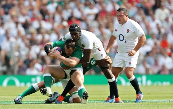 Ireland were overwhelmed by England (PA)