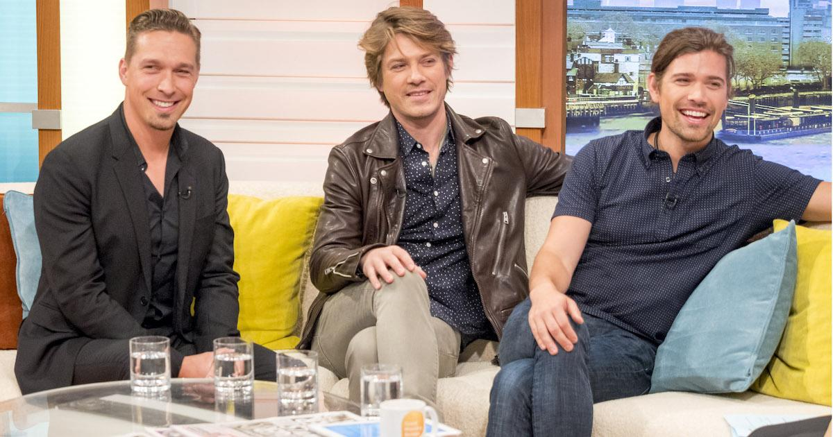 The trio (Issac, left, Taylor, centre, and Zac, right) stunned fans with their GMB appearance on Tuesday (Photo: Ken McKay/ITV/REX/Shutterstock)