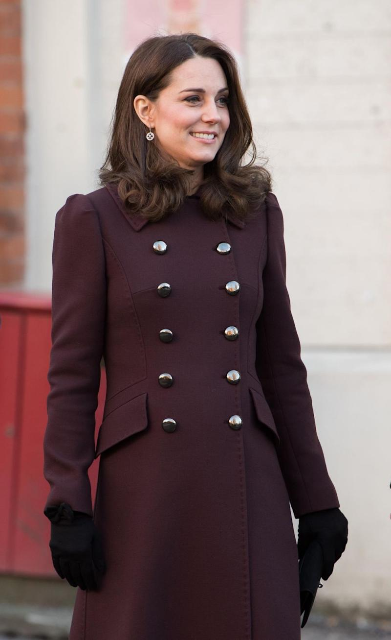 Kate, who's six months pregnant, is touring Sweden and Norway with William. Photo: Getty