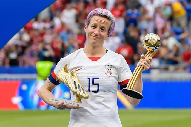 Megan Rapinoe and the USWNT players are marketable, something on which the NWSL needs to capitalize. (Photo by VI Images via Getty Images)