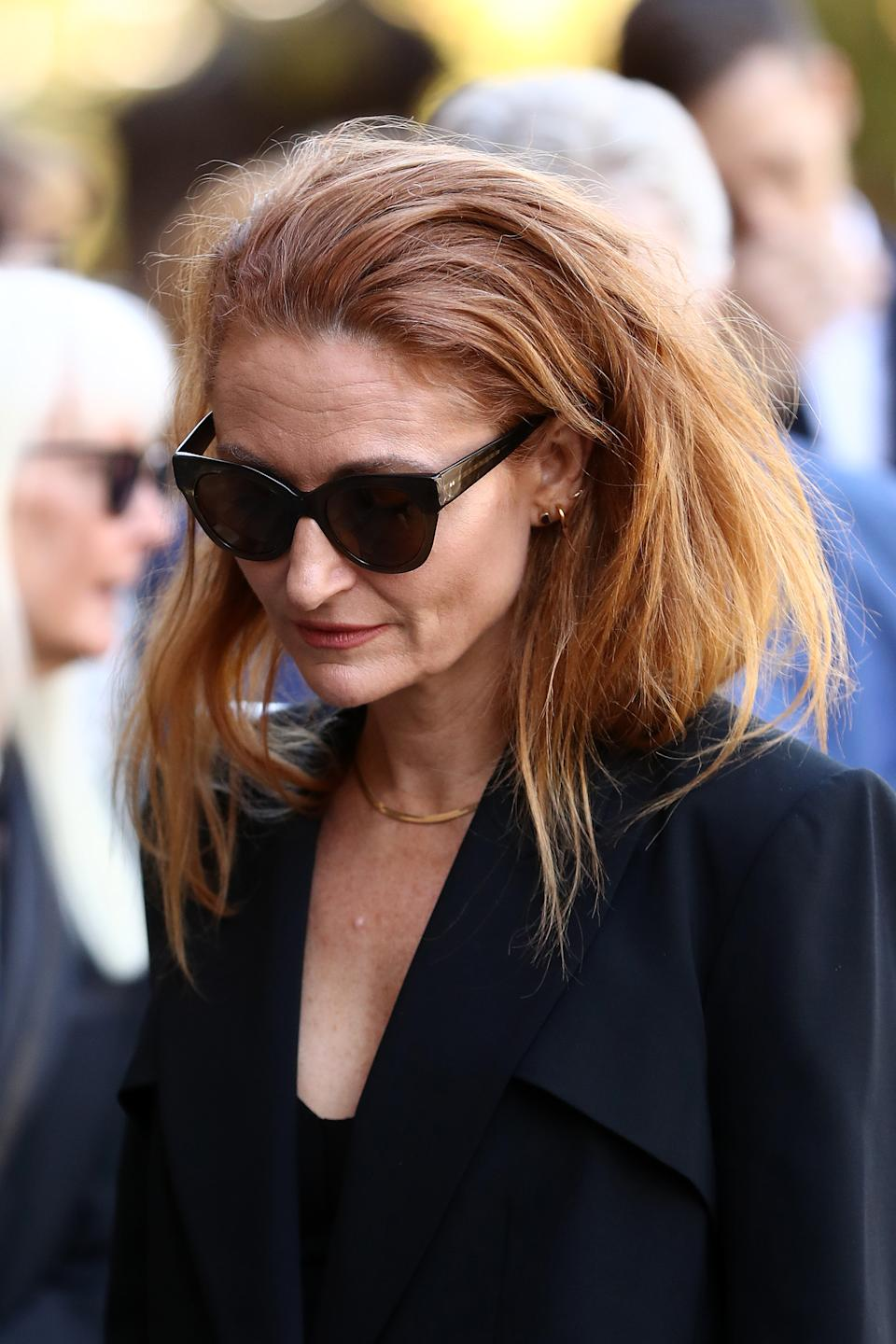 Alexandra Smart attends the State Funeral for Carla Zampatti at St Mary's Cathedral on April 15, 2021 in Sydney, Australia