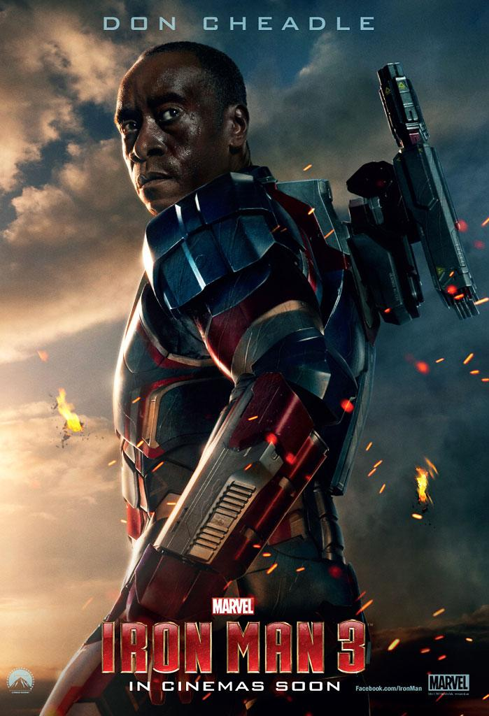 "Don Cheadle as James Rhodes in Marvel Studios' ""Iron Man 3"" - 2013"