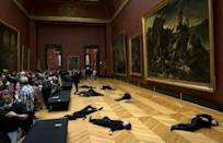 Last year, activists from 350.org staged a 'die-in' at the Louvre in Paris to protest oil giant Total's sponsorship of the museum