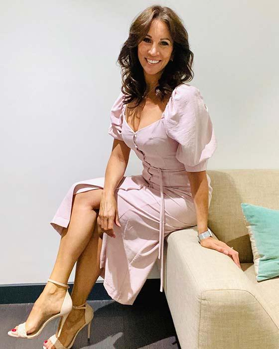 andrea-mclean-loose-women-backstage-pink-dress