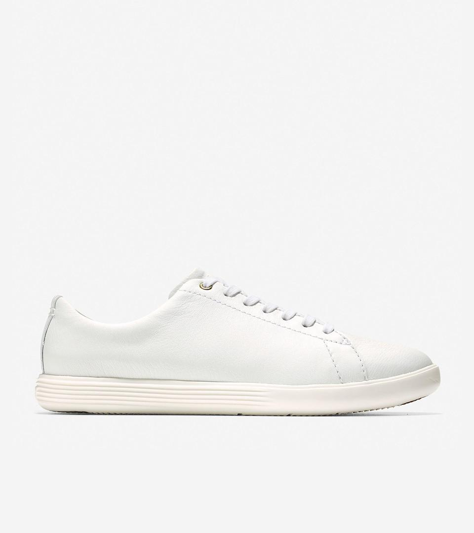 """<br><br><strong>Cole Haan</strong> Grand Crosscourt Sneaker, $, available at <a href=""""https://go.skimresources.com/?id=30283X879131&url=https%3A%2F%2Ffave.co%2F37CjbKU"""" rel=""""nofollow noopener"""" target=""""_blank"""" data-ylk=""""slk:Cole Haan"""" class=""""link rapid-noclick-resp"""">Cole Haan</a>"""
