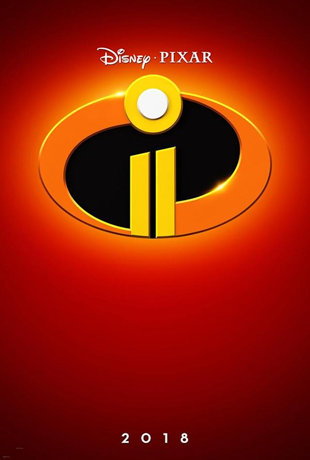 <p>Here's how you do a sequel poster. Pixar's first teaser image for <em>Incredibles 2</em> maintains the original's modernist sensibility in a streamlined, graphical way. </p>