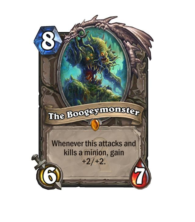 <p>By the time The Boogeymonster ramps up, most games should be over. However, if he's put up against a minion-heavy control deck, he might just swing the game in your favor.</p>