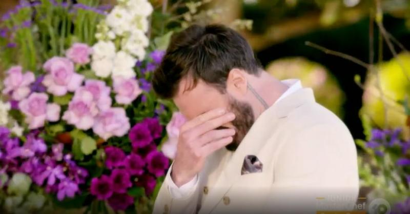 'The Bachelor Australia's Locky Gilbert struggled to make a decision during Thursday night's finale (Photo: Channel 10)