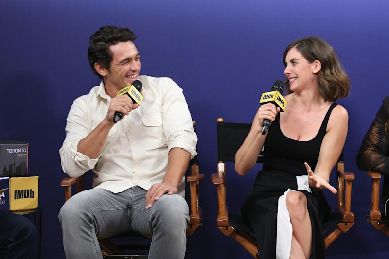 Actor James Franco and actress Alison Brie (Rich Polk via Getty Images)