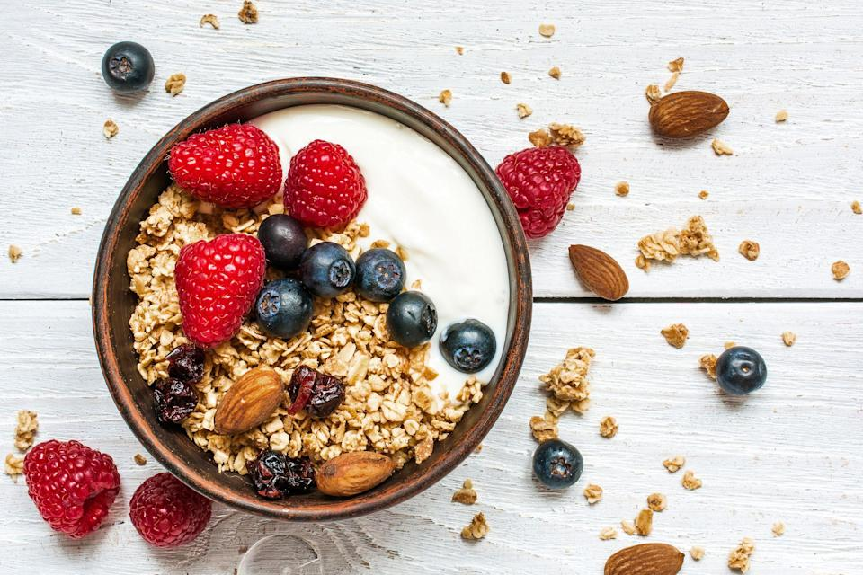 """<p>Head to your local supermarket's dairy department and you'll find hundreds of yogurt brands to choose from. From <a href=""""https://www.prevention.com/food-nutrition/healthy-eating/g28506677/best-dairy-free-yogurts/"""" rel=""""nofollow noopener"""" target=""""_blank"""" data-ylk=""""slk:dairy-free yogurts"""" class=""""link rapid-noclick-resp"""">dairy-free yogurts</a> and <a href=""""https://www.prevention.com/food-nutrition/a19827924/greek-yogurt-vs-low-fat-yogurt/"""" rel=""""nofollow noopener"""" target=""""_blank"""" data-ylk=""""slk:Greek yogurts"""" class=""""link rapid-noclick-resp"""">Greek yogurts</a>, to fruit-flavored varieties that taste like dessert, the options are pretty endless. </p><p>Whether you mix plain yogurt into a delicious <a href=""""https://www.prevention.com/food-nutrition/recipes/a35552801/spinach-yogurt-dip-recipe/"""" rel=""""nofollow noopener"""" target=""""_blank"""" data-ylk=""""slk:spinach and yogurt dip"""" class=""""link rapid-noclick-resp"""">spinach and yogurt dip</a> or top a bowl full with berries and <a href=""""https://www.prevention.com/food-nutrition/a30680853/coconut-and-sunflower-seed-granola-recipe/"""" rel=""""nofollow noopener"""" target=""""_blank"""" data-ylk=""""slk:homemade granola"""" class=""""link rapid-noclick-resp"""">homemade granola</a>, yogurt is a super versatile food, says <a href=""""https://abbylangernutrition.com/"""" rel=""""nofollow noopener"""" target=""""_blank"""" data-ylk=""""slk:Abby Langer R.D.,"""" class=""""link rapid-noclick-resp"""">Abby Langer R.D.,</a> owner of Abby Langer Nutrition and author of <a href=""""https://www.amazon.com/Good-Food-Bad-Diet-Relationship/dp/1982137509?tag=syn-yahoo-20&ascsubtag=%5Bartid%7C2141.g.36664197%5Bsrc%7Cyahoo-us"""" rel=""""nofollow noopener"""" target=""""_blank"""" data-ylk=""""slk:Good Food, Bad Diet"""" class=""""link rapid-noclick-resp""""><em>Good Food, Bad Diet</em></a><i>. </i>That's because it's rich in protein and high in <a href=""""https://www.prevention.com/food-nutrition/healthy-eating/g35570043/best-probiotic-yogurt/"""" rel=""""nofollow noopener"""" target=""""_blank"""" data-ylk=""""slk:probiotics"""" class=""""link rapid-noclick-resp"""
