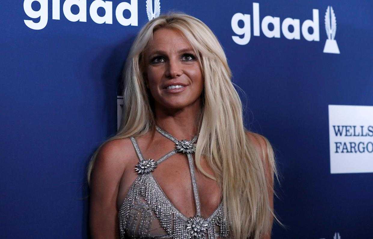 Singer Britney Spears poses at the 29th Annual GLAAD Media Awards in Beverly Hills, California, U.S., April12, 2018. REUTERS/Mario Anzuoni