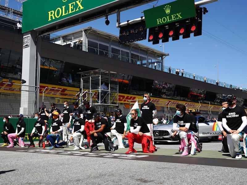 14 drivers took a knee ahead of the Austrian Grand Prix but six others chose not to: Getty