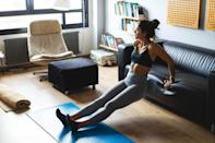 """<p>We all know that <a href=""""https://www.popsugar.com/fitness/Benefits-Exercise-41069822"""" class=""""link rapid-noclick-resp"""" rel=""""nofollow noopener"""" target=""""_blank"""" data-ylk=""""slk:exercise releases those happy endorphins"""">exercise releases those happy endorphins</a> - so one of the best ways to combat the winter blues is with a sweat session (or many sweat sessions!). Keep moving, keep working out, and keep the positive feelings flowing. Here are a few workouts we're loving: </p> <ul> <li><a href=""""https://www.popsugar.com/fitness/kelsey-wells-15-minute-bodyweight-ab-blast-workout-47707571"""" class=""""link rapid-noclick-resp"""" rel=""""nofollow noopener"""" target=""""_blank"""" data-ylk=""""slk:An equipment-free ab workout"""">An equipment-free ab workout</a></li> <li><a href=""""https://www.popsugar.com/fitness/kelsey-wells-20-minute-back-shoulder-dumbbell-workout-47700898"""" class=""""link rapid-noclick-resp"""" rel=""""nofollow noopener"""" target=""""_blank"""" data-ylk=""""slk:A 20-minute back and shoulders dumbbell workout"""">A 20-minute back and shoulders dumbbell workout</a></li> <li><a href=""""https://www.popsugar.com/fitness/Workouts-Get-Back-Shape-45193544"""" class=""""link rapid-noclick-resp"""" rel=""""nofollow noopener"""" target=""""_blank"""" data-ylk=""""slk:A four-week workout plan to build muscle"""">A four-week workout plan to build muscle</a></li> </ul>"""