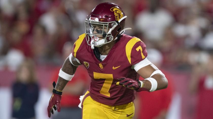 Southern California cornerback Chase Williams in an NCAA football game against Fresno State Saturday, Sept. 31, 2019, in Los Angeles. (AP Photo/Kyusung Gong)