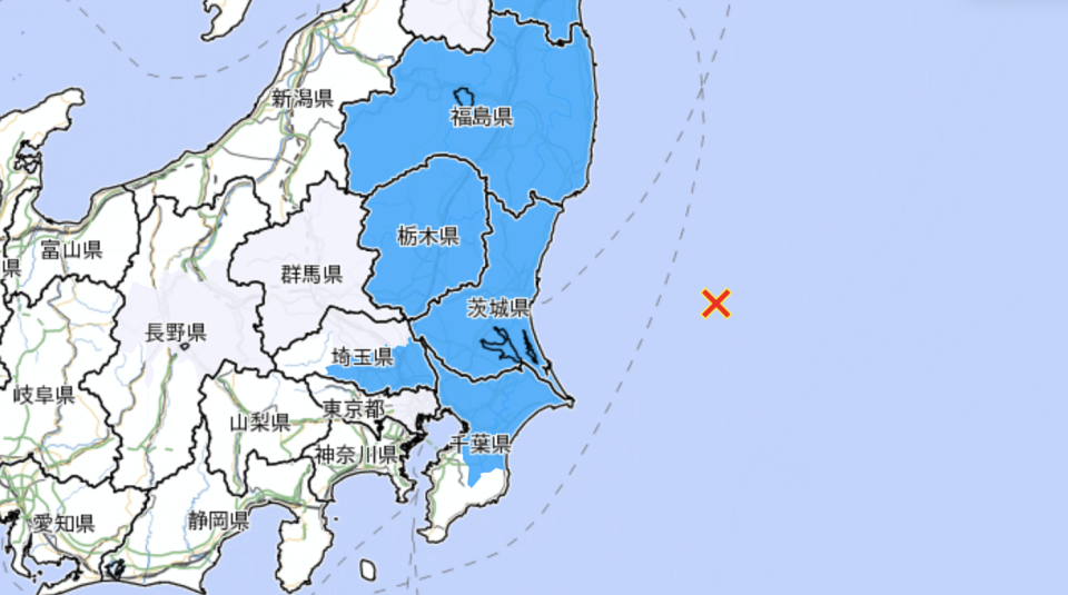 A map of the earthquake and where it struck.