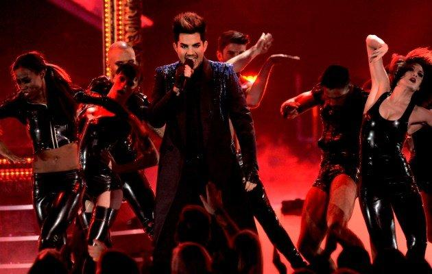 Adam Lambert performs at VH1 Divas on Sunday, Dec. 16, 2012, at the Shrine Auditorium in Los Angeles. A church council in Singapore has received complaints over his upcoming Singapore concert. (AP photo)