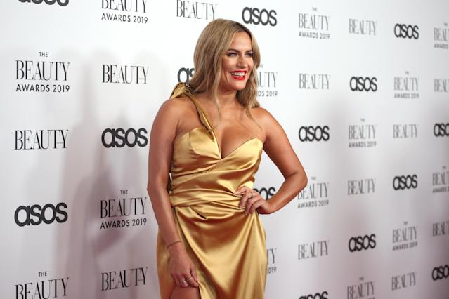 Caroline Flack attends The Beauty Awards 2019 on November 25, 2019 in London, England. (Photo by Lia Toby/Getty Images)