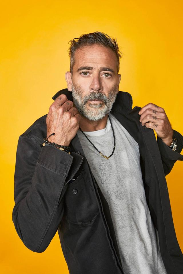 <p>Jeffrey Dean Morgan of 'The Walking Dead' poses for a portrait at the Pizza Hut Lounge at 2019 Comic-Con International: San Diego on July 20, 2019 in San Diego, California.</p>