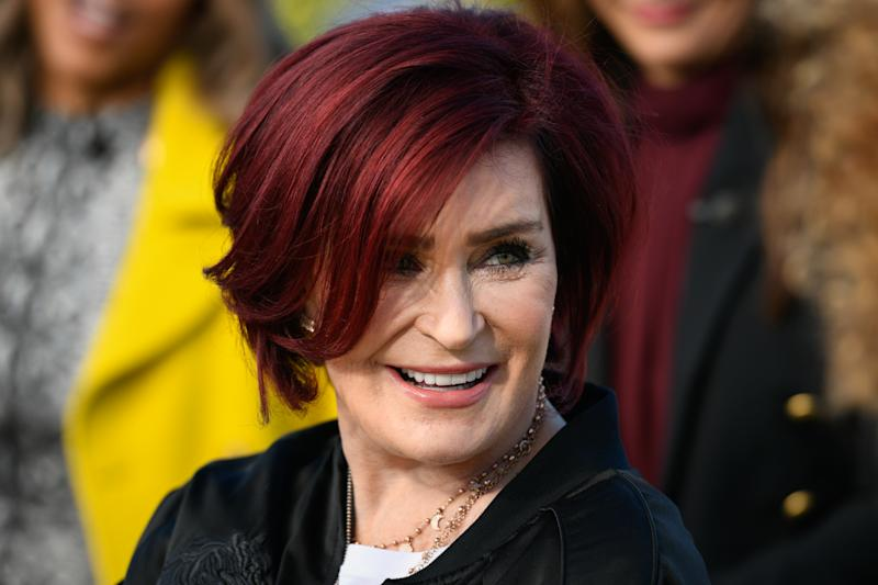 "Sharon Osbourne visits ""Extra"" at Universal Studios Hollywood on February 19, 2019. (Photo by Noel Vasquez/Getty Images)"