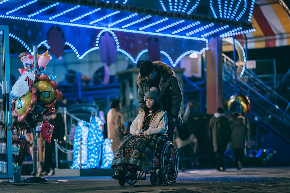A remake of the 2003 Japanese movie, Josee, the Tiger and the Fish, Josée is about a romance transcending physical and social class spaces between Yong Seok (Nam Joo Hyuk), a university senior student and an orphaned, disabled young woman Josée, (Han Ji Min) who is cared for by her grandmother.(Still courtesy of Golden Village Pictures)