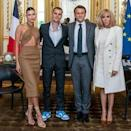 """<p>Justin and Hailey Bieber are currently in Paris, France. While their usual activities in the French capital include fashion shows and concerts, on June 21, the couple met with the French President and First Lady, Emmanuel and Brigitte Macron. </p><p>Posing for a photo in Macron's office, Bieber left the post caption-less but according to <a href=""""https://www.bfmtv.com/people/musique/justin-bieber-recu-par-emmanuel-macron-a-l-elysee_AN-202106210444.html"""" rel=""""nofollow noopener"""" target=""""_blank"""" data-ylk=""""slk:French reports,"""" class=""""link rapid-noclick-resp"""">French reports,</a> it was the Canadian singer who asked to meet the President and they discussed issues about young people. It also happened to be 'Music Day' (Fête de la musique) in France which is fitting. </p><p><a href=""""https://www.instagram.com/p/CQZPuOEHPH1/"""" rel=""""nofollow noopener"""" target=""""_blank"""" data-ylk=""""slk:See the original post on Instagram"""" class=""""link rapid-noclick-resp"""">See the original post on Instagram</a></p>"""